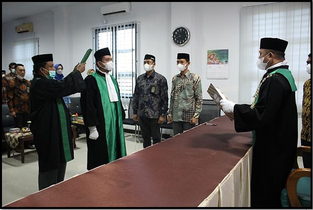 Wakil Ketua Mahkamah Syar'iyah Langsa Resmi di Lantik I (21/9)