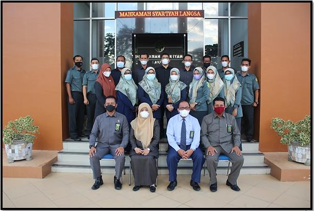 Pembinaan Ketua Mahkamah Syar'iyah Aceh  di Mahkamah Syar'iyah Langsa
