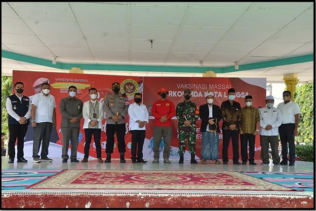 Wakil Ketua Mahkamah Syar'iyah Langsa Hadiri  Kegiatan Vaksinasi Massal di Kota Langsa